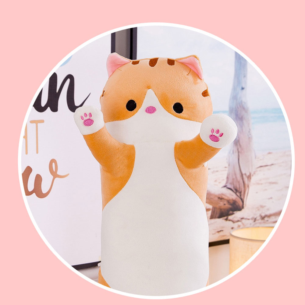 Image 3 - Cute plush cat doll soft filled kitten pillow doll toy gift for kids girlfriend toy sofa HUG Deals-in Decorative Pillows from Home & Garden