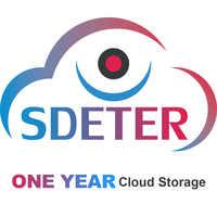 SDETER-cámara de seguridad inalámbrica V380 Pro, IP, WIFI, servicio de almacenamiento en la nube de un año, hasta 128GB, un año