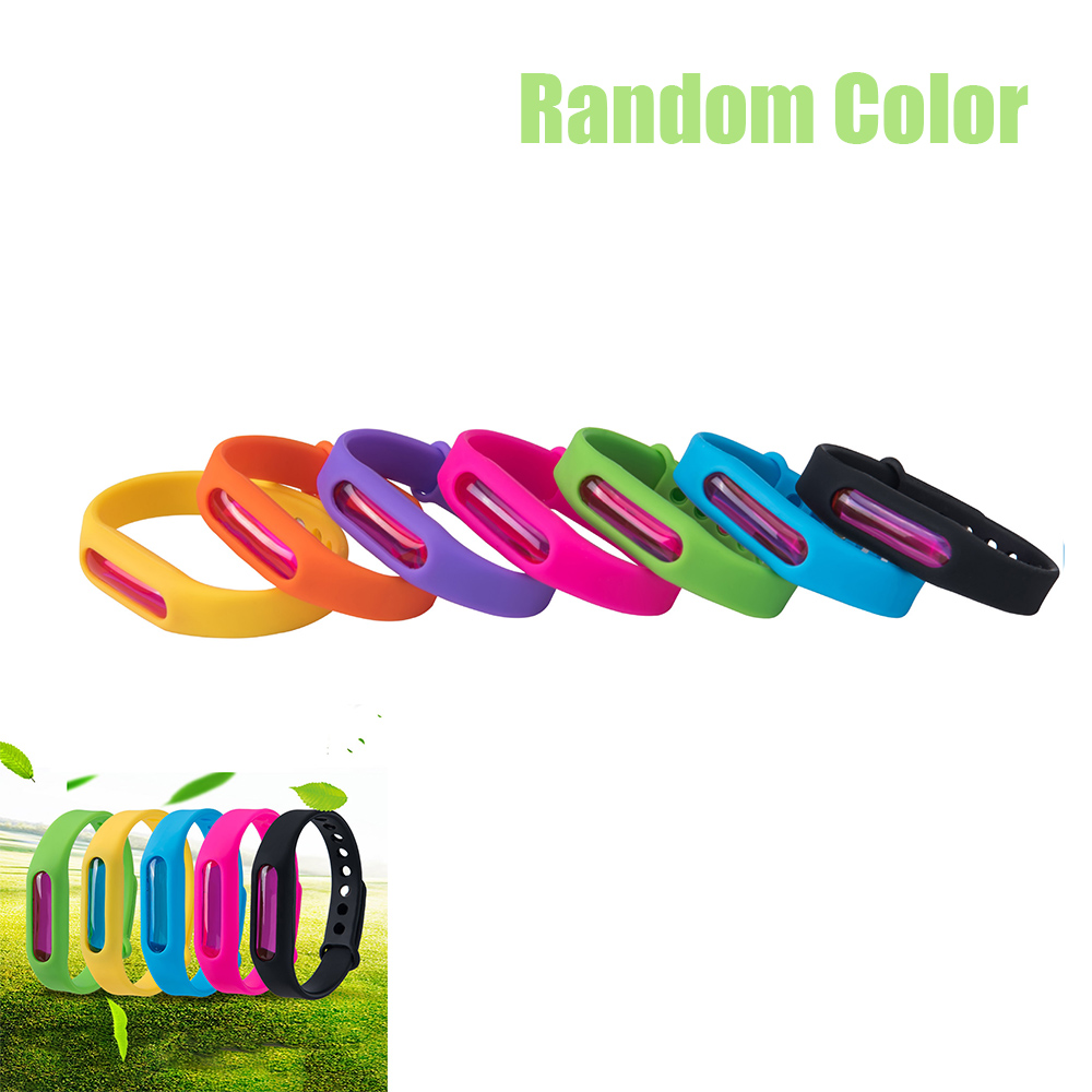 1pcs/Lot Wristband Anti Mosquito Pest Insect Bugs Repellent Repeller Wrist Band Bracelet Non-Toxic Safe Random Color