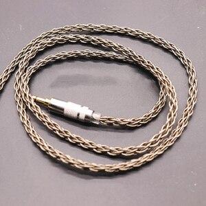 Image 5 - 8 נתח 152 ליבה אחת קריסטל נחושת כסף ציפוי אוזניות שדרוג קו MMCX/0.78/IE80/ QDC/A2DC/IM50