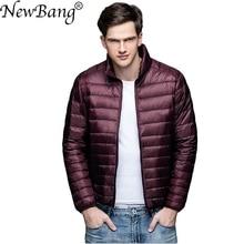 NewBang Brand Winter Mens Down Jacket Ultra Light Down Jacket Men Windbreaker Feather Jacket Man Lightweight Portable Warm Coat