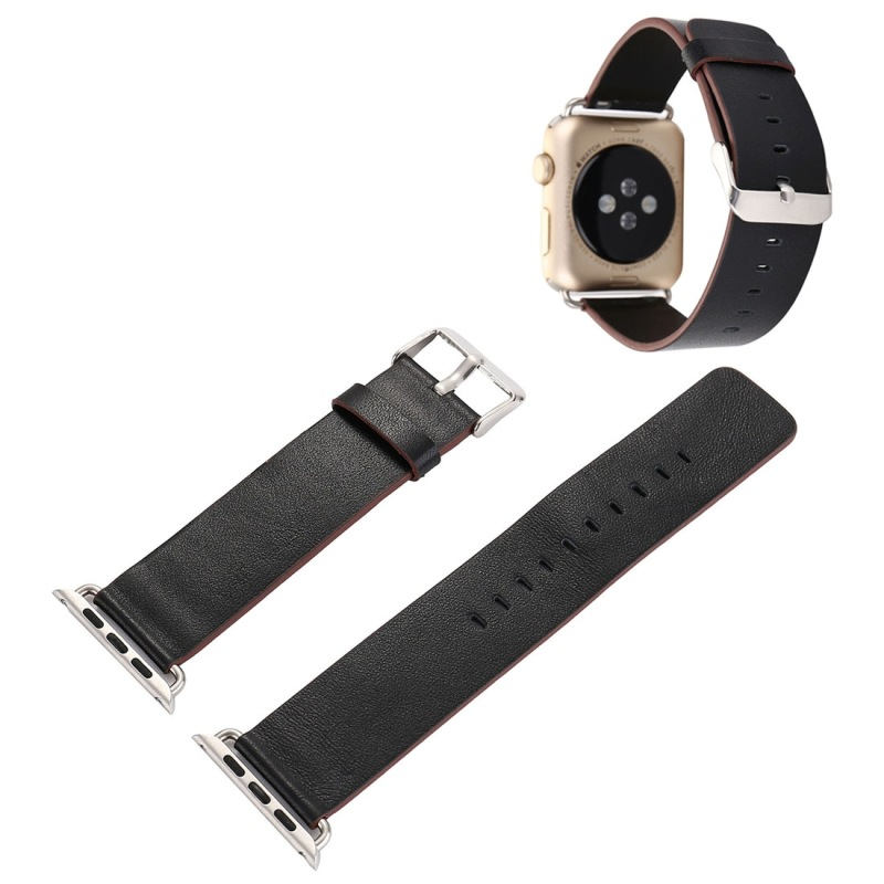Suitable For APPLE Watch 38 Mm Three Generations Second Generation Universal Graft Dermatoglyph PU Leather Watch Strap
