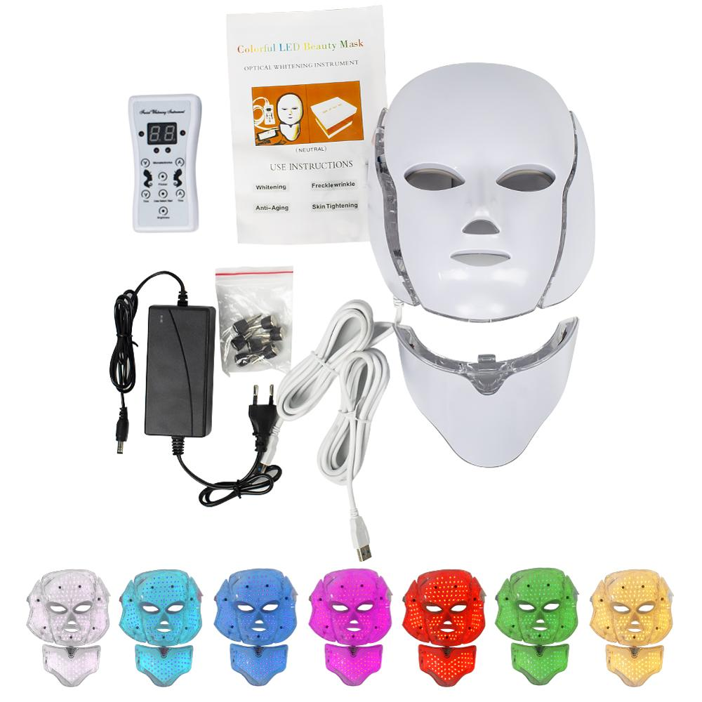 7 Colors Light Led Facial Mask Led Korean Photon Therapy Face Mask Machine Led Mask Machine Salon Light Therapy Skin Tightening