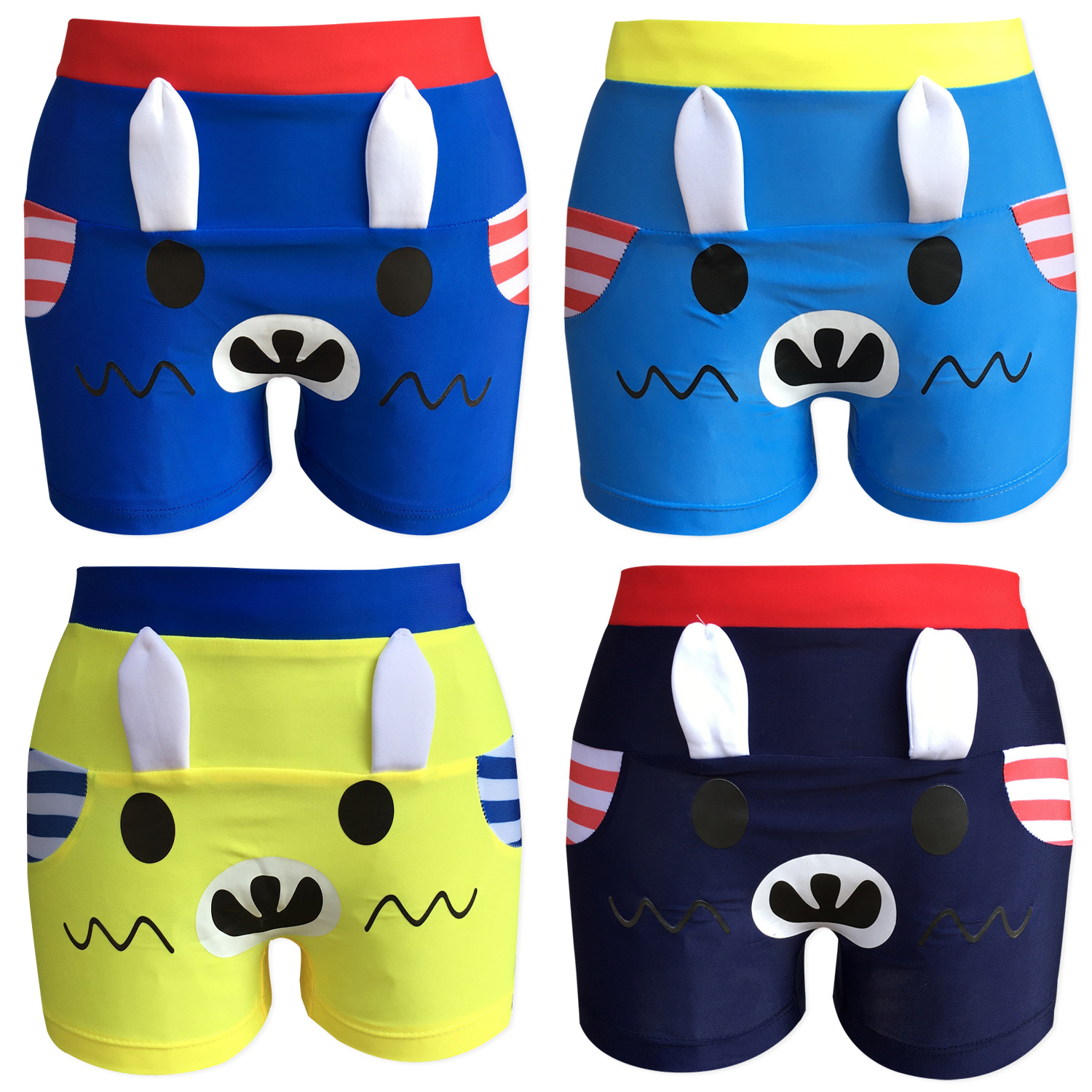 Creative-Children Boxers 2019 Korean-style BOY'S Small CHILDREN'S Children 2-10-Year-Old Young Children Cute Cartoon Swimming Tr
