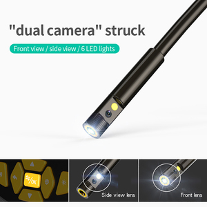 """Image 3 - Portable Dual Lens Handheld Endoscope 4.3""""Screen Inspection Camera with 6 LED 8mm Industrial Digital Endoscopy With 32GB TF Card"""