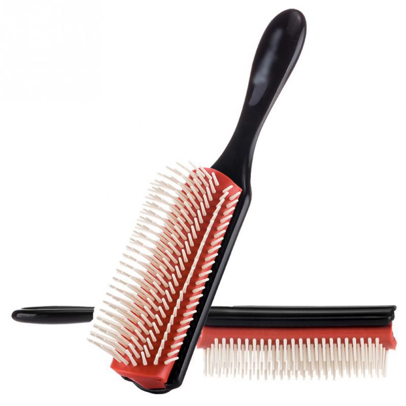 2Pcs Hair Styling Brush Wheat Straw Hairbrush Salon Hairdressing Straight Curly Hair Comb Tangle Hair Brush
