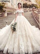Di lusso Del Merletto Dellabito di Sfera Abito Da Sposa Scollo a cuore Abiti Da Sposa Lungo Più Nuovo Plus Size Abito Da Sposa Vestito Da Sposa