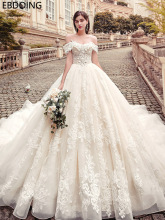Luxurious Lace Ball Gown Wedding Dress Sweetheart Neckline Vestidos De Novia Long Newest Plus Size Wedding Gown Bride Dress
