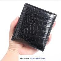 Hot sale Luxury brand crocodile leather fashion wallet men's designer short belly delgada purses European style card wallets bag