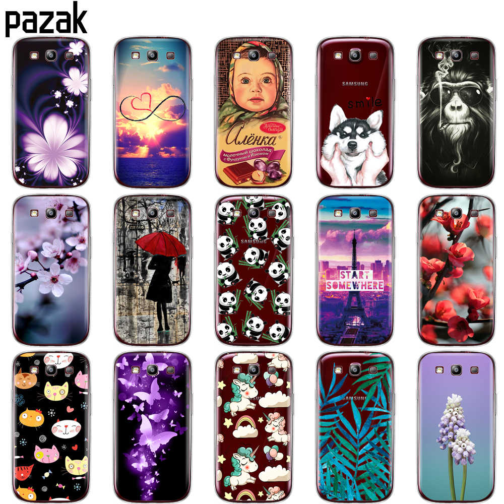 Silicone Case For Samsung Galaxy S3 Case i9300 cover for Samsung S3 soft tpu 360 full protective clear printing phone back coque