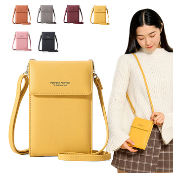Luxury Cell Phone Pocket Mini Crossbody Shoulder Bags For Women Leather Purse Ladies Small Handbags Yellow Female Messenger Bag women messenger bags crossbody leather shoulder bag high quality fashion women bags handbags metal buckle cell phone pocket
