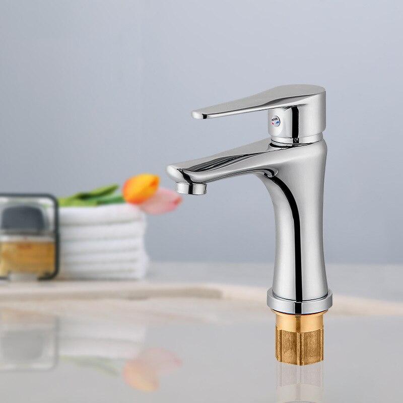 King Sanitary Ware Hot And Cold Basin Copper Faucet Bathroom Single Bore Plumbing Hardware Sanitary Ware Shower Faucet Manufactu