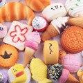 20 штук игрушек-сжималок случайный большой средний мини медленный отскок кавайный мягкий торт/панда/хлеб/Телефон Мягкие игрушки ключ