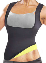 Неопреновый женский жилет для тренировок по талии приталенный