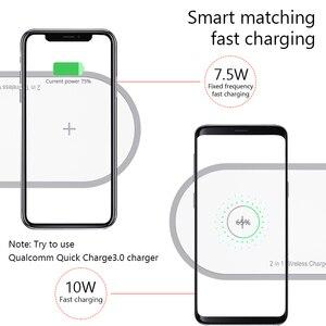 Image 4 - Chargeur sans fil pour iPhone 8 X Xs Max Samsung S9 pour Apple Watch 5/4/3/2/1 Charge sans fil magnétique 2 en 1 chargeur rapide
