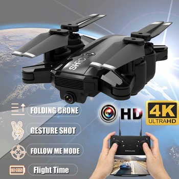 4K Foldable RC Drone Aircraft Quadcopter Wifi FPV HD Camera Follow Me Mode Movie-level Photography RC Drone