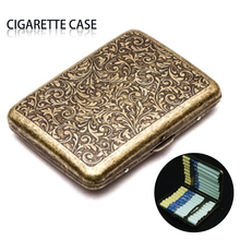 New Cigarette-Case High Quality  With Gift Box For 20pcs Metal Vintage Cigarette Accessories On Sale