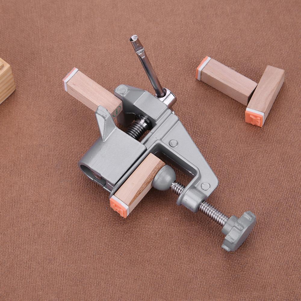 Morsa da banco universale Mini tavolo in lega di alluminio Morsa da - Macchine utensili e accessori - Fotografia 4