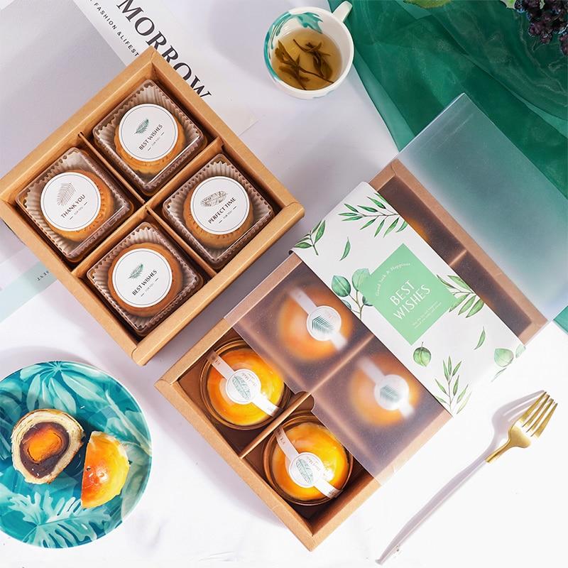 Gift DIY Egg Supplies 6pcs Yolk Biscuit Crisp Hold 10pcs Handmade Baking Wedding Can Nougat StoBag Party Packaging BIrthday