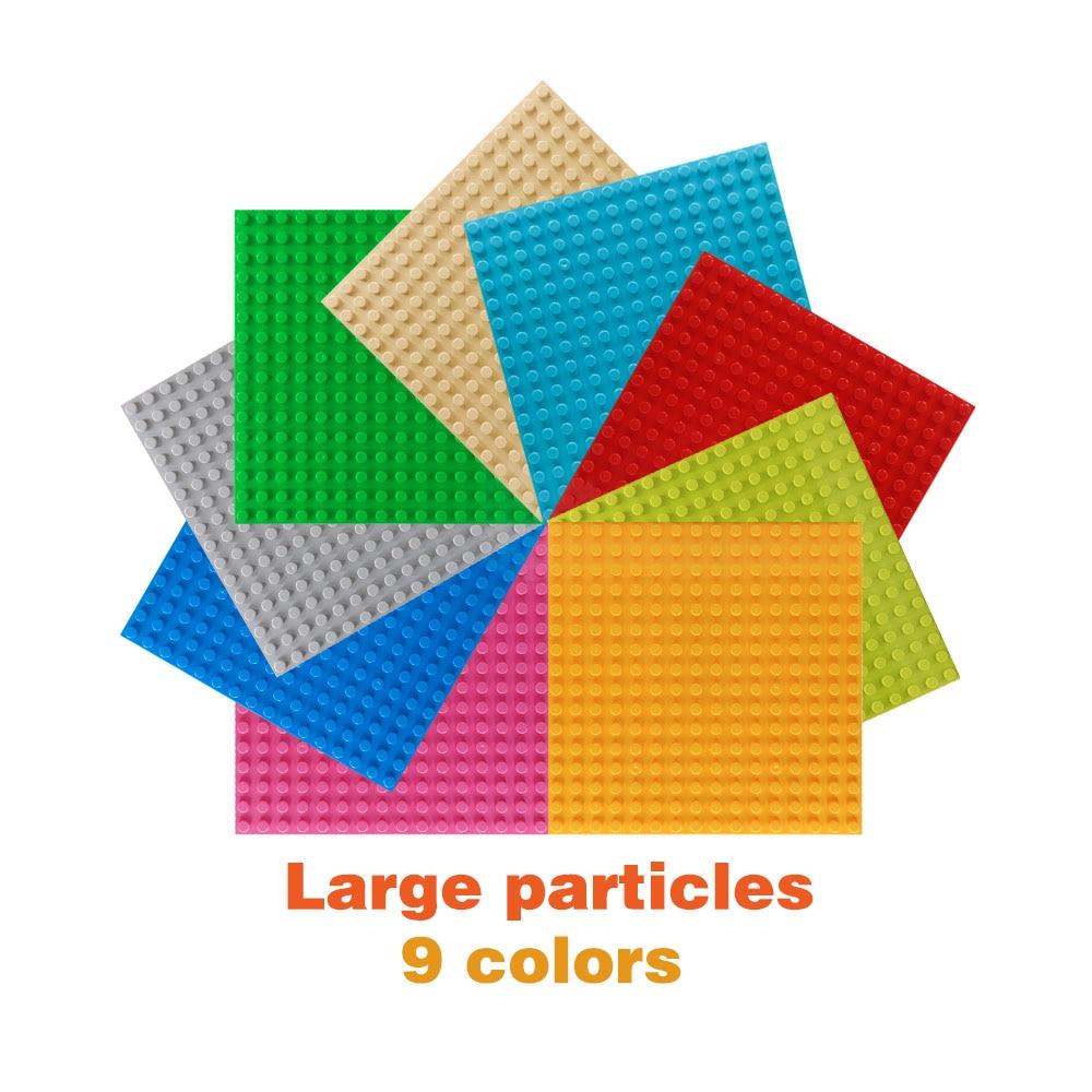 Tamanho grande duploed placas de base diy blocos de construção placa de um lado compatível com baseplate tijolos brinquedos para crianças presentes
