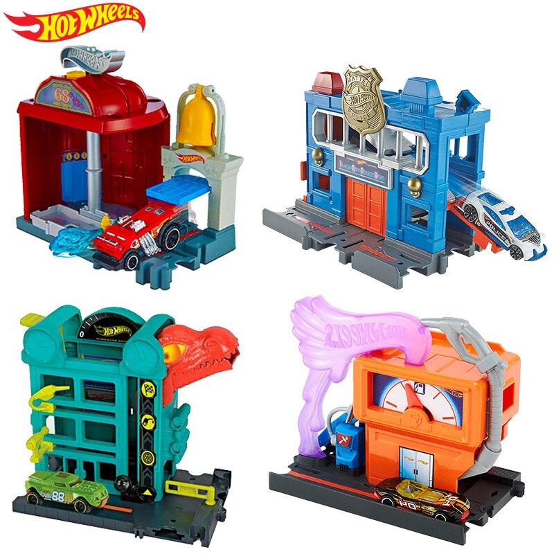Car-Track-Toys Diecast Hot Wheels Car-Model-Accessories Children for Oyuncak Araba Playset