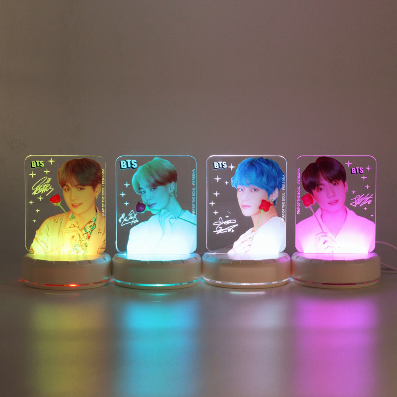 BTS Related the Persona Gift Seven Color LED Acrylic Light Board Small Night Lamp 009
