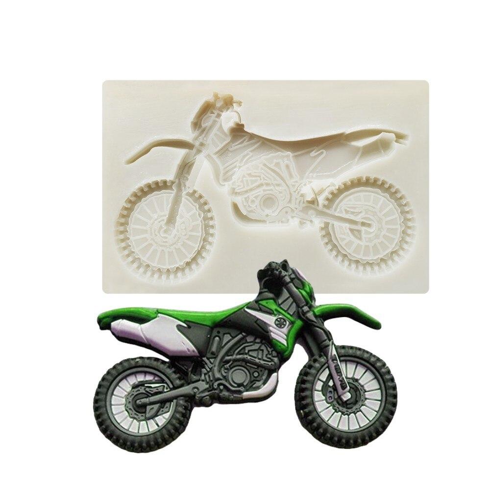 Luyou 1 шт. силиконовая форма для мотоцикла, инструменты для украшения тортов, помадка, форма для шоколадной мастики FM1917