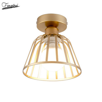 Nordic Minimalist Wrought Iron LED Ceiling Lamp Lighting Modern Corridor Ceiling Lights Restaurant Staircase Decorative Lamps