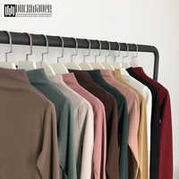 Duckwaver 2019 Autumn Women Causal Solid Loose stripe Long Sleeve kitted Turtleneck T-Shirts Lady Girls Basic Tee T Shirts Tops