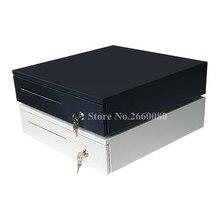 درج للنقود آلة تسجيل النقود بمنافذ البيع درج خمس شبكات ثلاثة قسم من Cashbox مع واجهة RJ11 لصندوق صراف سوبر ماركت