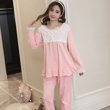 Spring Autumn Long-Sleeved Cotton Women's Breastfeeding Plus Size Confinement Clothing Pullover Maternity Pajamas Leisure Tops heavenly confinement