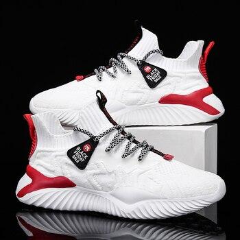 Zapatos informales De malla De moda para Hombre, zapatillas ligeras y transpirables para correr y trotar 1
