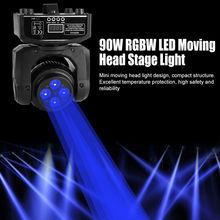 цена на 90W RGBW Stage Light LED Effect Moving Head Lights DMX Disco DJ Party Lighting