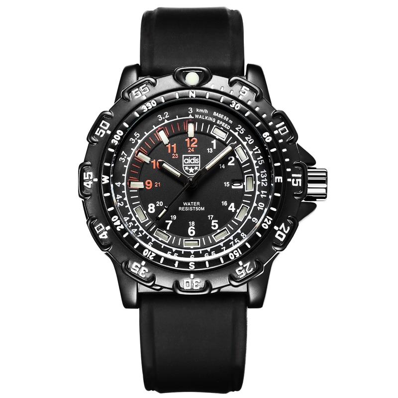 Mens Watch Quartz Analog Hand Luminous Dial Display Casual Wrist Watches Men In Dark Like Tritium Clock