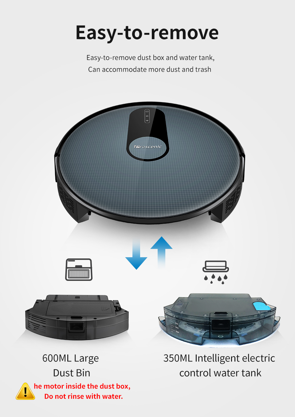 H762fba68f5a94904b069dd60e6a33c19m Proscenic 820P Robot Vacuum Cleaner Smart Planned 1800Pa Suction with wet cleaning for Home Carpet Cleaner Washing Smart Robot