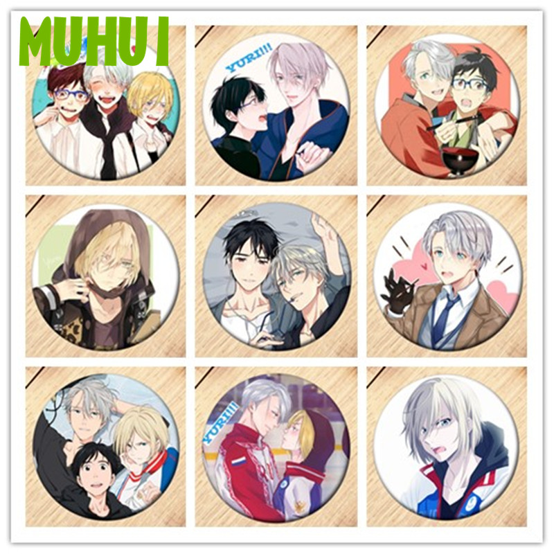 Free Shipping Anime YURI!!! On ICE Brooch Pin Brestpin Badge For Clothes Backpack Decoration Children's Gift   B012