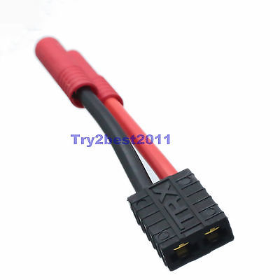 Tüketici Elektroniği'ten Pil Aksesuarları'de DHL/EMS 50 Takım HXT 4mm Mermi Traxxas dişi konnektör/Adaptör 7.4 lipo 11.1 lipo C1 title=