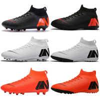 Outdoor Männer Jungen Fußball Schuhe Fußball Stiefel Hohe Knöchel Kinder Stollen Ausbildung Sport Turnschuhe Größe 35-46 Dropshipping