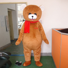 Mascot costume bear cartoon adult