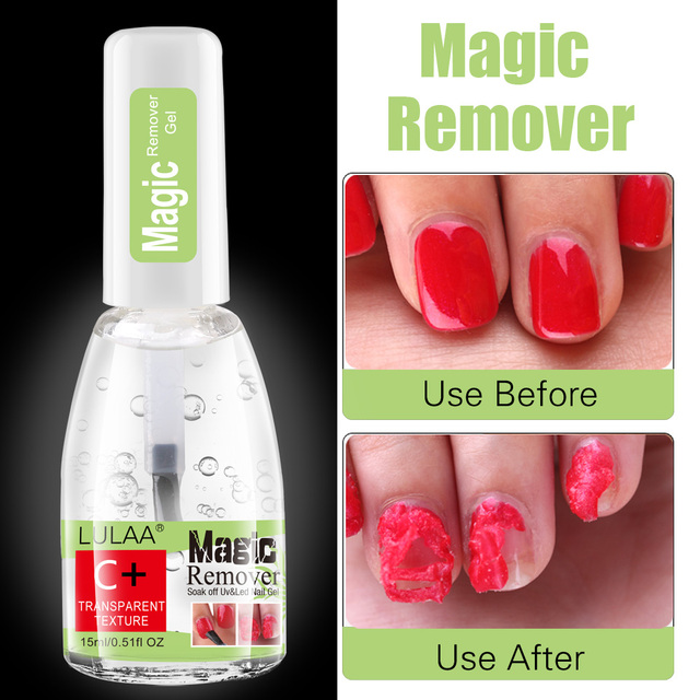 Gel Nail Magic Remover 15ml Nail Gel Remover Gel Soak Off Polish for Fast Healthy Nail Cleaner Gel  Nail Remover 1