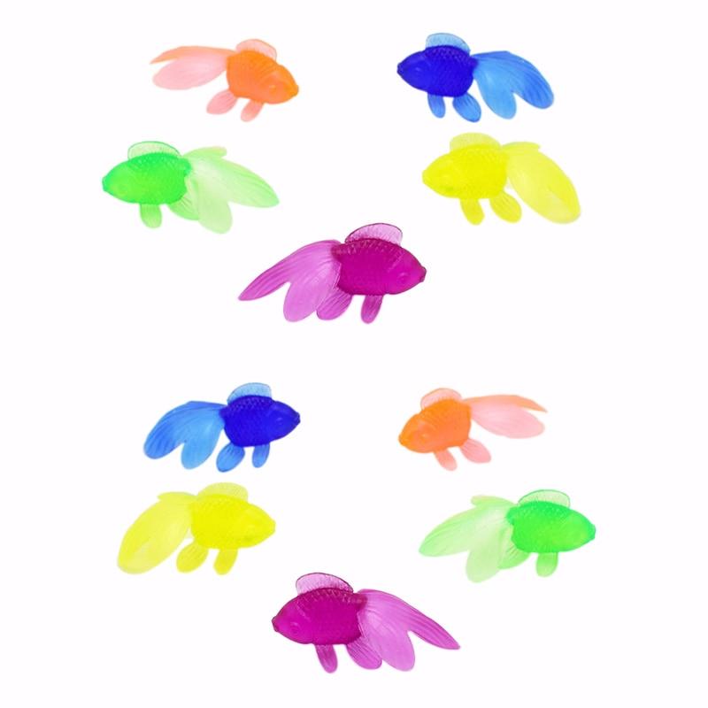 10 Pcs/Lot Soft Rubber Gold Fish Baby Bath Toys Small Plastic Simulation Small Goldfish Water Toy Fun Kids Swimming Beach Toys