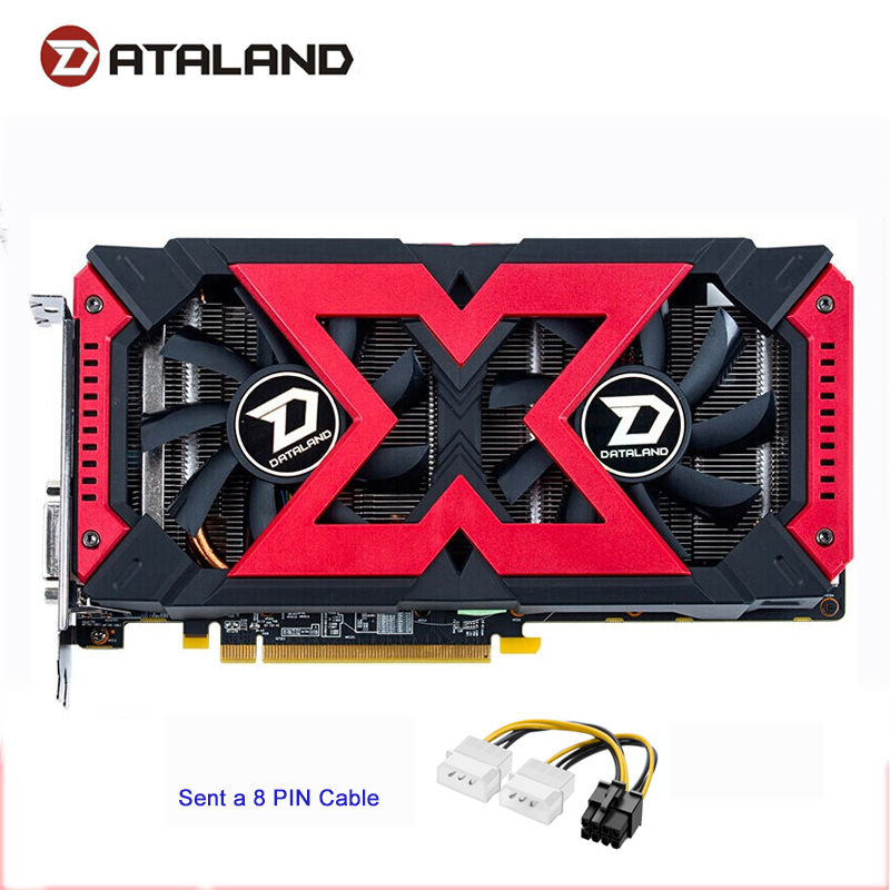 Dataland RX570 4GB X-Serial Gaming Video Card GPU RX 570 4G Graphics Cards Computer Game For AMD Video Cards image
