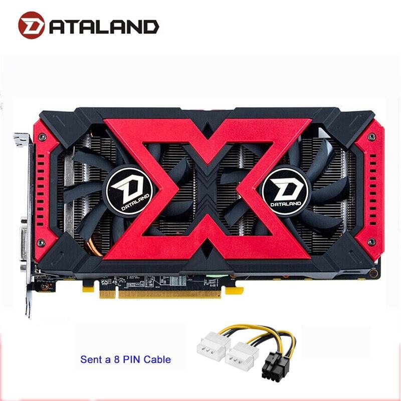 Dataland rx570 4 gb x-serial gaming placa de vídeo gpu rx 570 4g placas gráficas jogo de computador para placas de vídeo amd