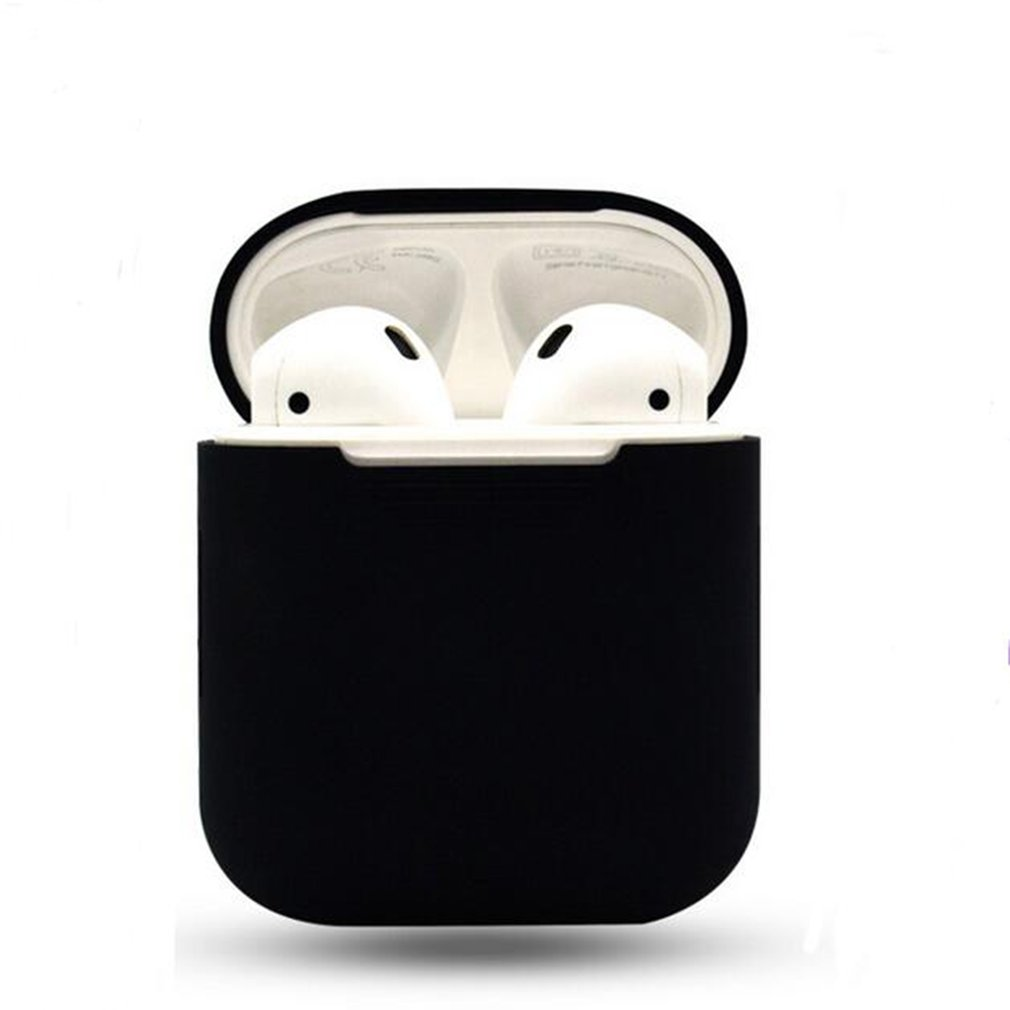 Wireless Earphones Set Silicone Case Cover Pouch Holder Anti-lost Strap Eartips for Apple AirPods Accessories