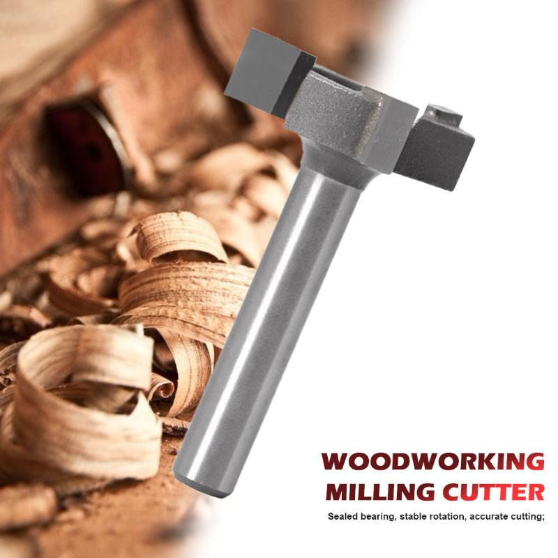Milling Cutter 3-edge T-type Drawer Frame Panel Knife Router Bit Carbon Steel Multifunction Durable Trimming Tools Supplies