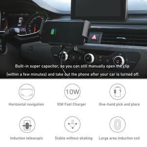 Image 2 - Bonola הידוק אוטומטי אלחוטי מטען לרכב הר עבור iPhone 11 XR 8 בתוספת רכב אלחוטי מטען עבור סמסונג S20 בתוספת הערה 20