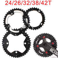 104/64mm BCD MTB Bike Chainring 24/26/32/38/42t Bike Chain Ring Double/Triple 10Speed Aluminum Chainwheel Bicycle Accessories