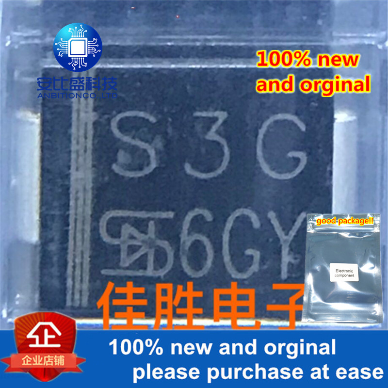 50pcs 100% New And Orginal 1N5404 3A400V DO214AB Silk-screen S3G In Stock