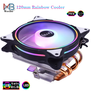 4 heatpipes CPU radiator Cooler 120mm 90mm RGB low profile fan 3PIN 4PIN LGA 775 1156 1155 115x 1366 2011 X79 X99 AMD AM4 CPU