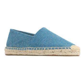 Alpargatas planas de cáñamo para Mujer, Zapatos informales sin cordones, zapatillas de Ballet, mocasines